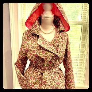 Animal Print Pink Platinum Girls' Trench Coat.